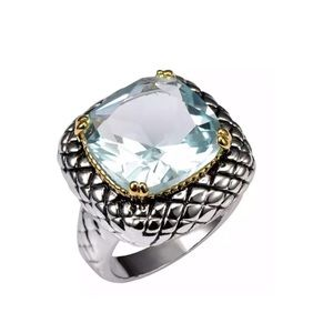 Jewelry - New Sterling Silver Aquamarine Ring